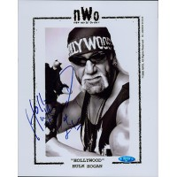 Hulk Hollywood Hogan Signed NWO 8x10 Glossy Promo Photo TRISTAR Authenticated