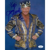 Jerry The King Lawler Signed WWF Wrestling 8x10 Matte Photo JSA Authenticated