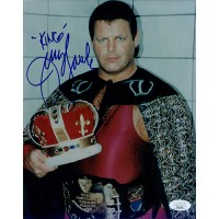 Jerry The King Lawler Signed WWF Wrestling 8x10 Glossy Photo JSA Authenticated