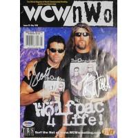 NWO Kevin Nash and Scott Hall Signed Wrestling WCW Magazine PSA Authenticated