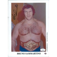 Bruno Sammartino WWF WWE Signed 8x11 Promo Photo JSA Authenticated