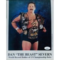 Dan The Beast Severn Signed WWF/WWE Wrestling 8x10 Matte Photo JSA Authenticated