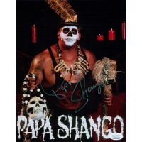 Papa Shango WWE WWF Wrestler 8x10 Glossy Photo JSA Authenticated