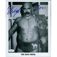 Iron Sheik WWF WWE Wrestler 8x10 Cardstock Photo JSA Authenticated