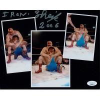 Iron Sheik Signed WWF/WWE Wrestling 8x10 Matte Photo JSA Authenticated