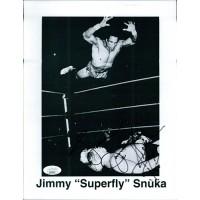 "Jimmy ""Superfly"" Snuka WWF WWE Signed 8.5x11 Promo Photo JSA Authenticated"