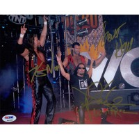 NWO Wolfpac Kevin Nash, Scott Hall and X-Pac Signed 8x10 Photo PSA Authenticated