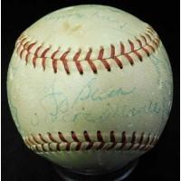 New York Yankees 1957 Team Signed Reach American League Baseball JSA Authentic